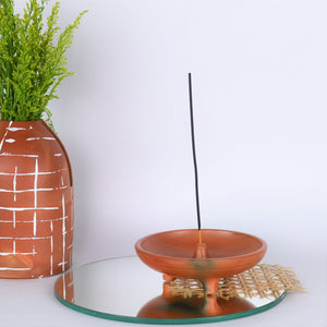Terracotta Incense Holder - Opaque Studio Candle Holder