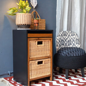 Modern Natural Basket Cabinet - Opaque Studio Cabinet