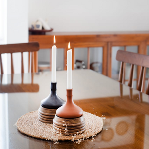 Hauri Candle Holders - Opaque Studio Candle Holder