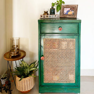 Greeny Cane Cabinet - Opaque Studio Cabinet