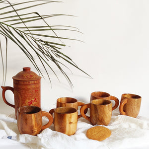 Ocha Wooden Cups (6 Cups) - Opaque Studio Mugs