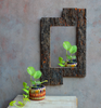 Caravan Tree-Bark Wall Mirror - Opaque Studio Mirror
