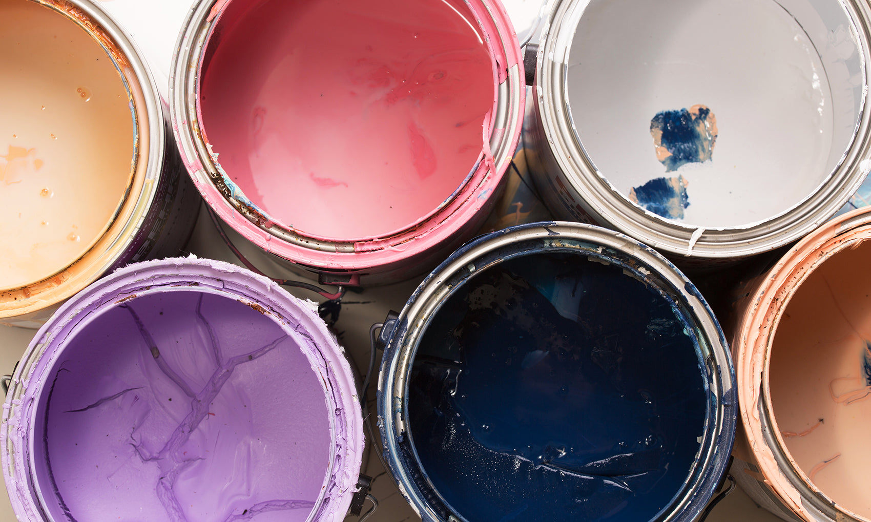 cans of paint for recycling
