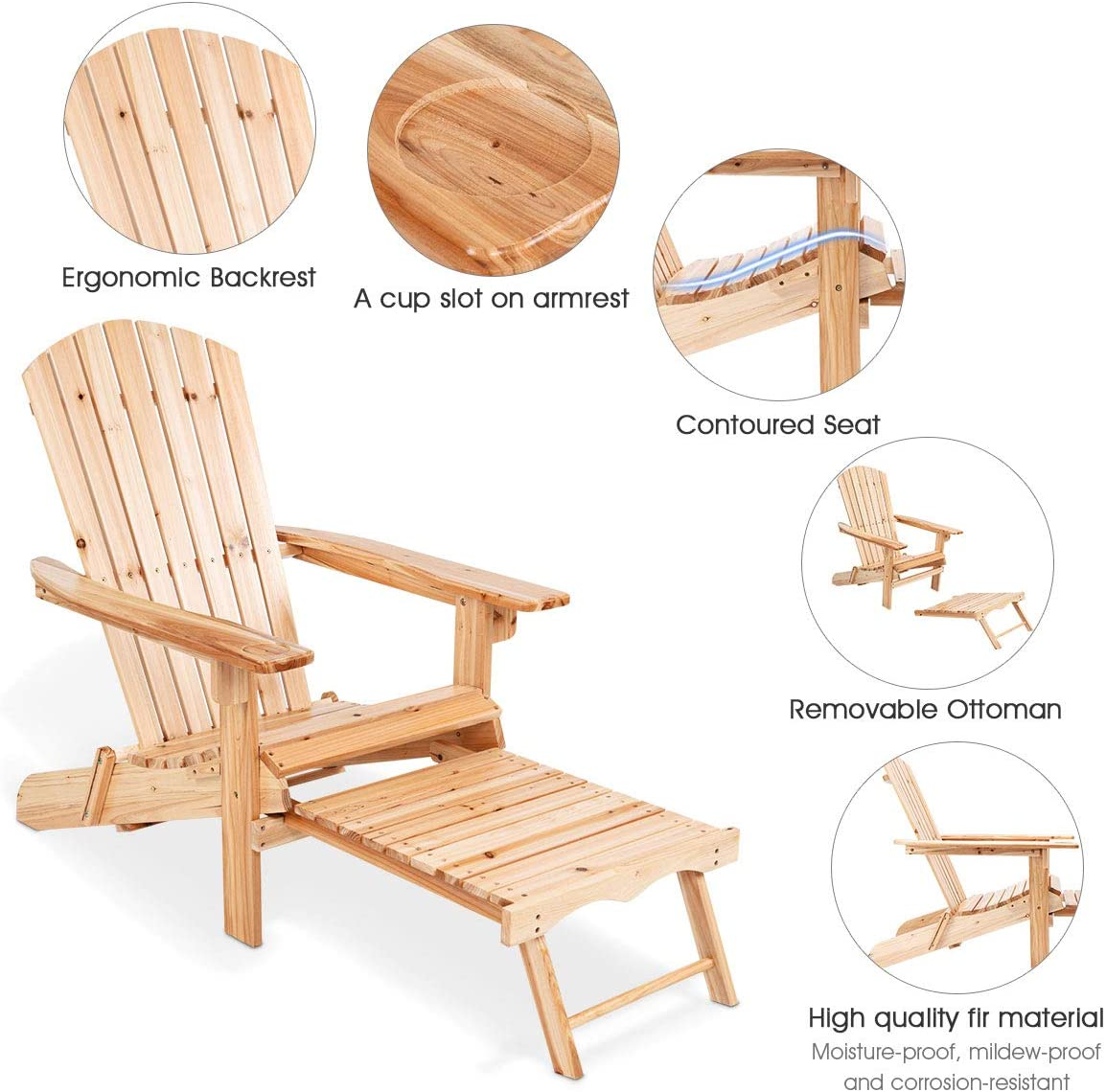 Helsinki - Adirondack Chair with an Ottoman