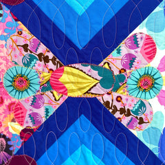 Cadence Quilt detail by Denise Martin on view at Seamless Gallery, Phoenixville, PA.