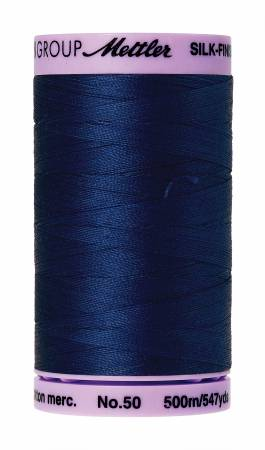 Silk-Finish 50wt Cotton Thread Color 1304 Imperial Blue 500m/547yds