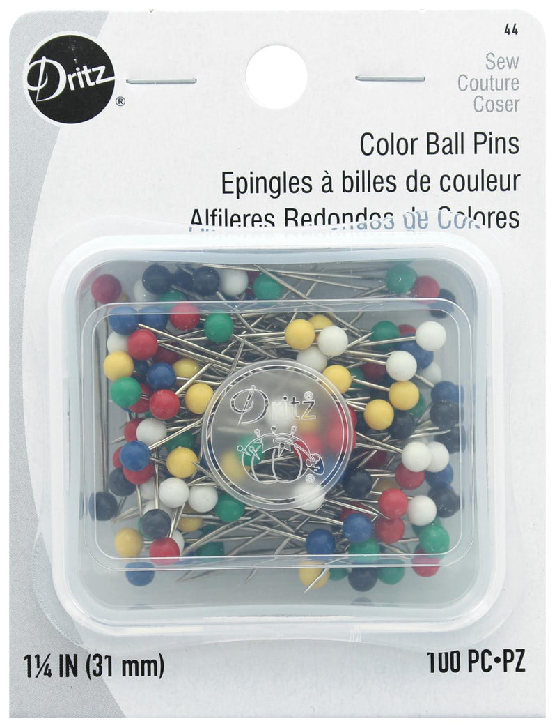 Color Ball Pins by Dritz 100 Pins