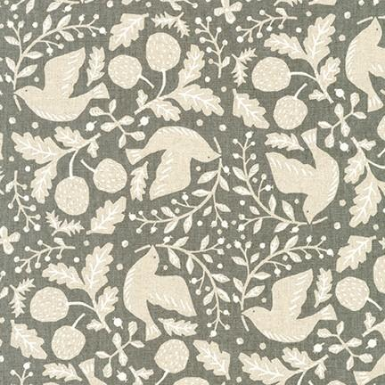 Cotton Flax Prints in Grey
