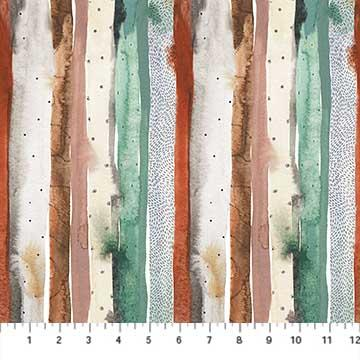 Desert Wilderness - Stripe by Sara Boccaccini in Green