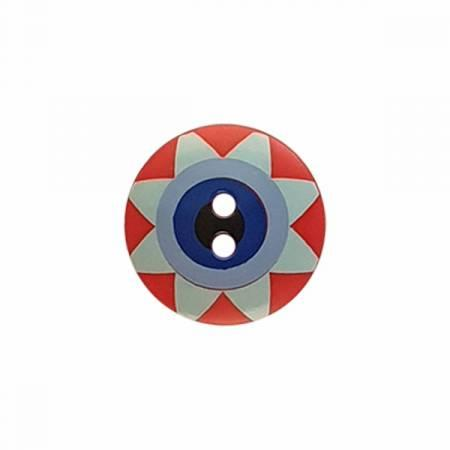 Kaffe Fassett Button Star Flower 20 mm in Red
