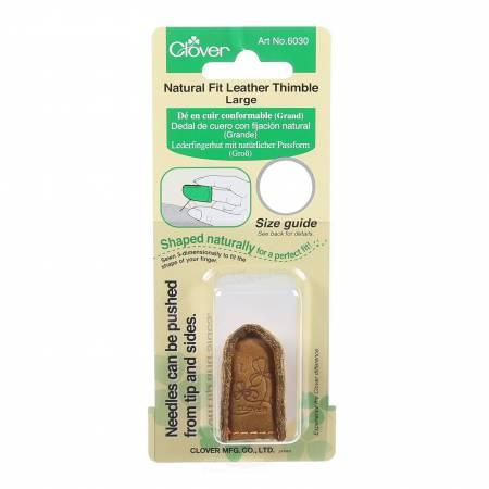 Natural Fit Leather Thimble Size Large