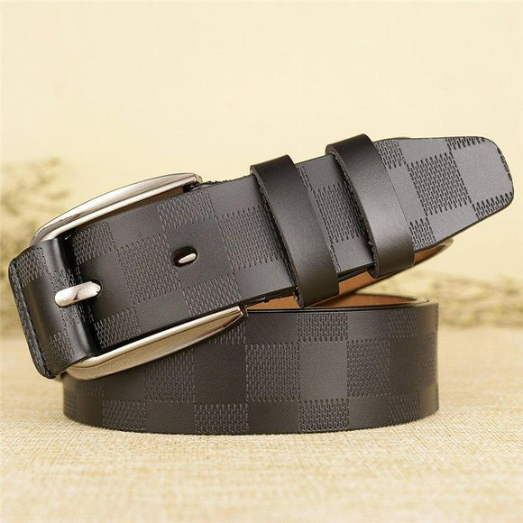 Classic Square Checks Pattern Belt For Men-JACK MARC