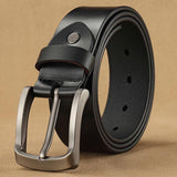 Men's genuine high quality leather belt formal and casual wear-JACKMARC
