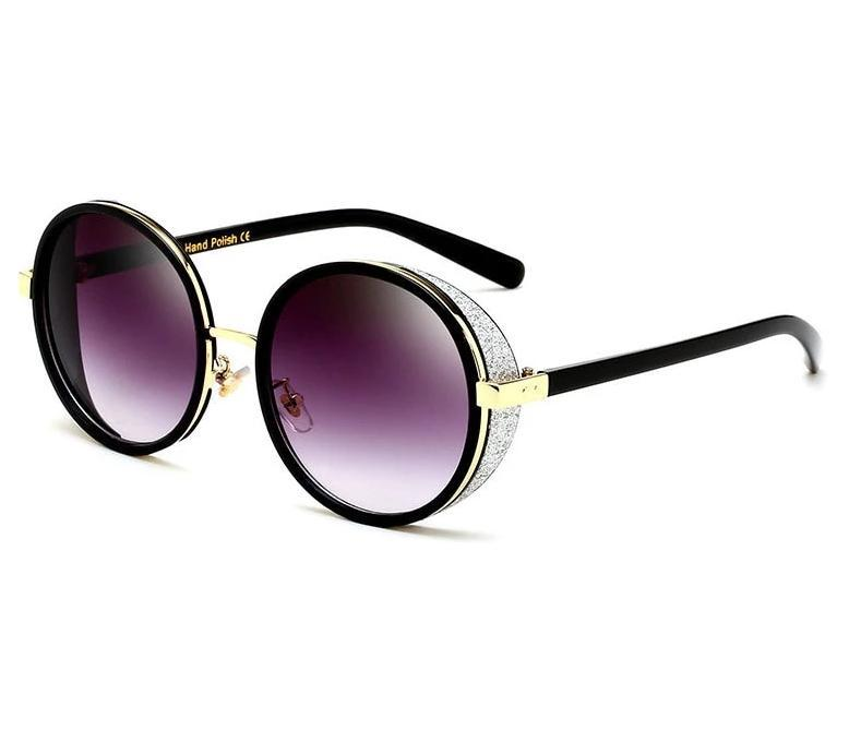 New Steampunk Luxury Round Sunglasses For Men And Women -JackMarc