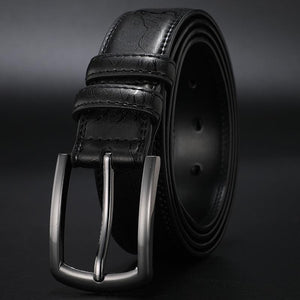 New fashion men's genuine pin buckle leather belt for formal and casual wear