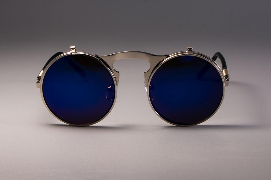 Vintage Round Flip Up Sunglasses For Men And Women-JackMarc