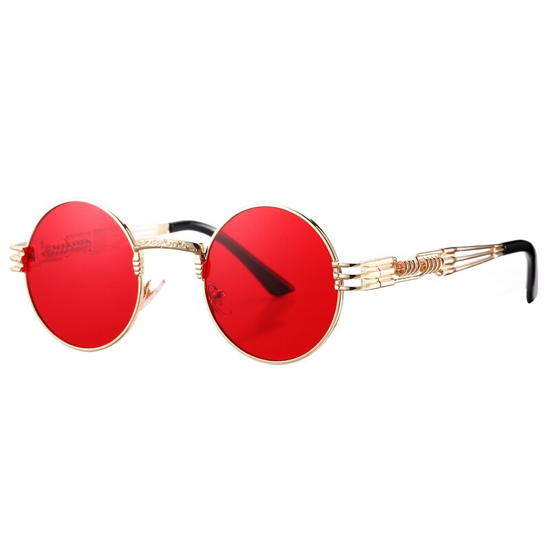 Steampunk Vintage Retro Round Sunglasses For Men And Women -JackMarc