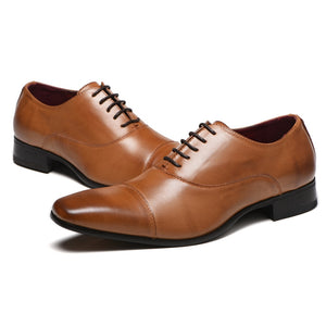 High Quality  Fashion Leather Shoes For Wedding Party Business Wear -JACKMARC
