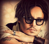 Johnny Depp Oval Sunglasses For Men -jackmarc