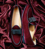 Buy Now Fashion Velvet Bow Moccasins Shoes For Office Wear And Casual Wear- JackMarc