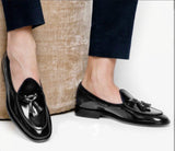 Buy Now Fashion Glossy Tussle Moccasins Shoes For Office Wear And Casual Wear- JackMarc