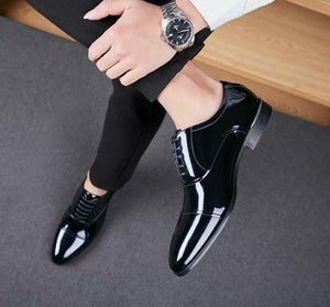 Buy Now Stylish black glossy shoes for party wear and office wear - JackMarc
