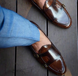 Buy Now Fashion Office Wear And Casual Wear Patent Monk Shoes Men- JackMarc