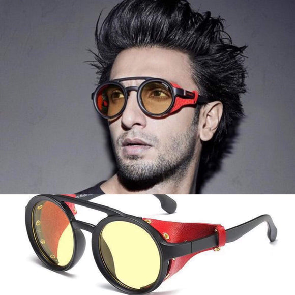 Funky Leather Cap Ranveer Singh Sunglasses-FunkyTradition Premium FunkyTradition
