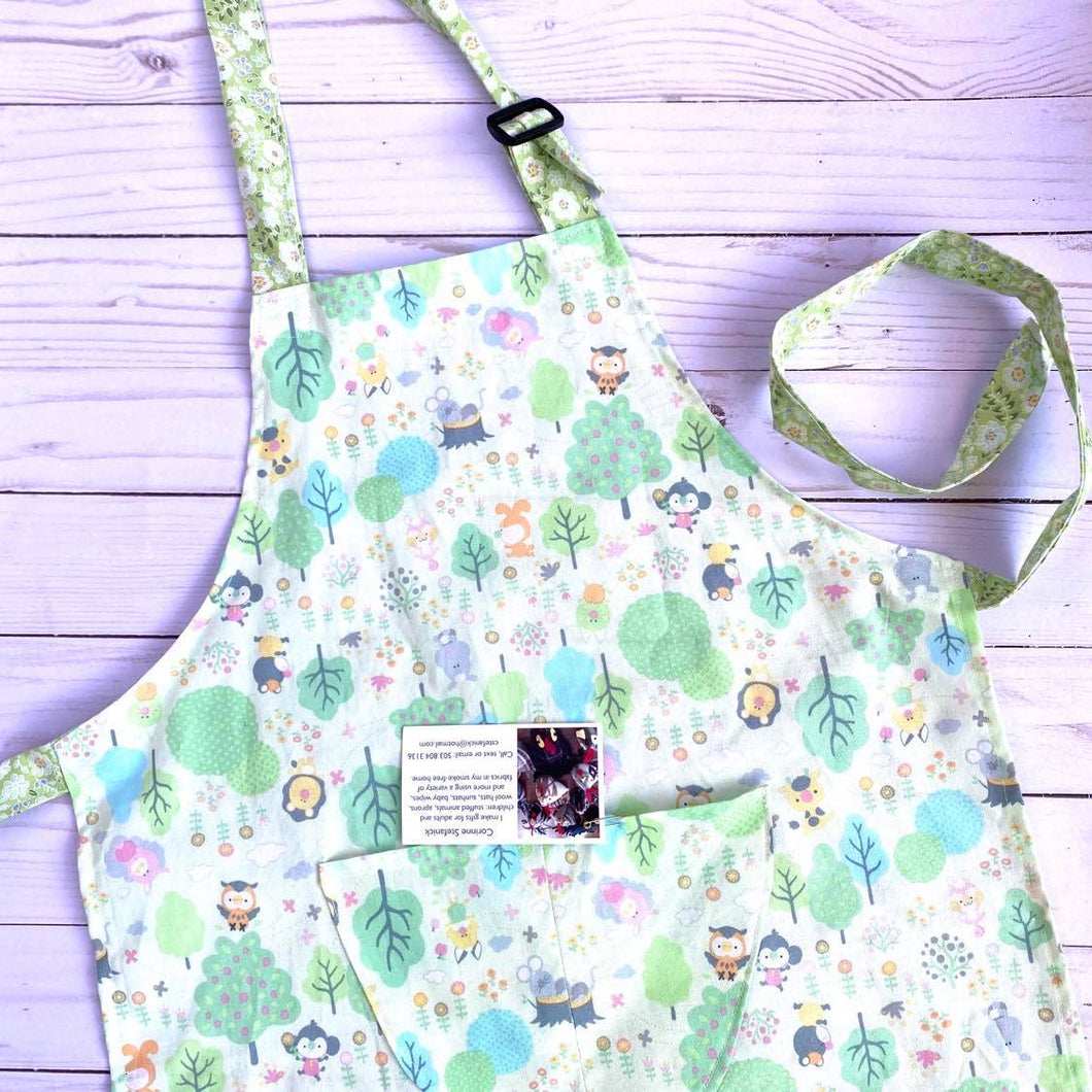 NEW Little Helper Apron by Corrine's Crafts - Woodland Print