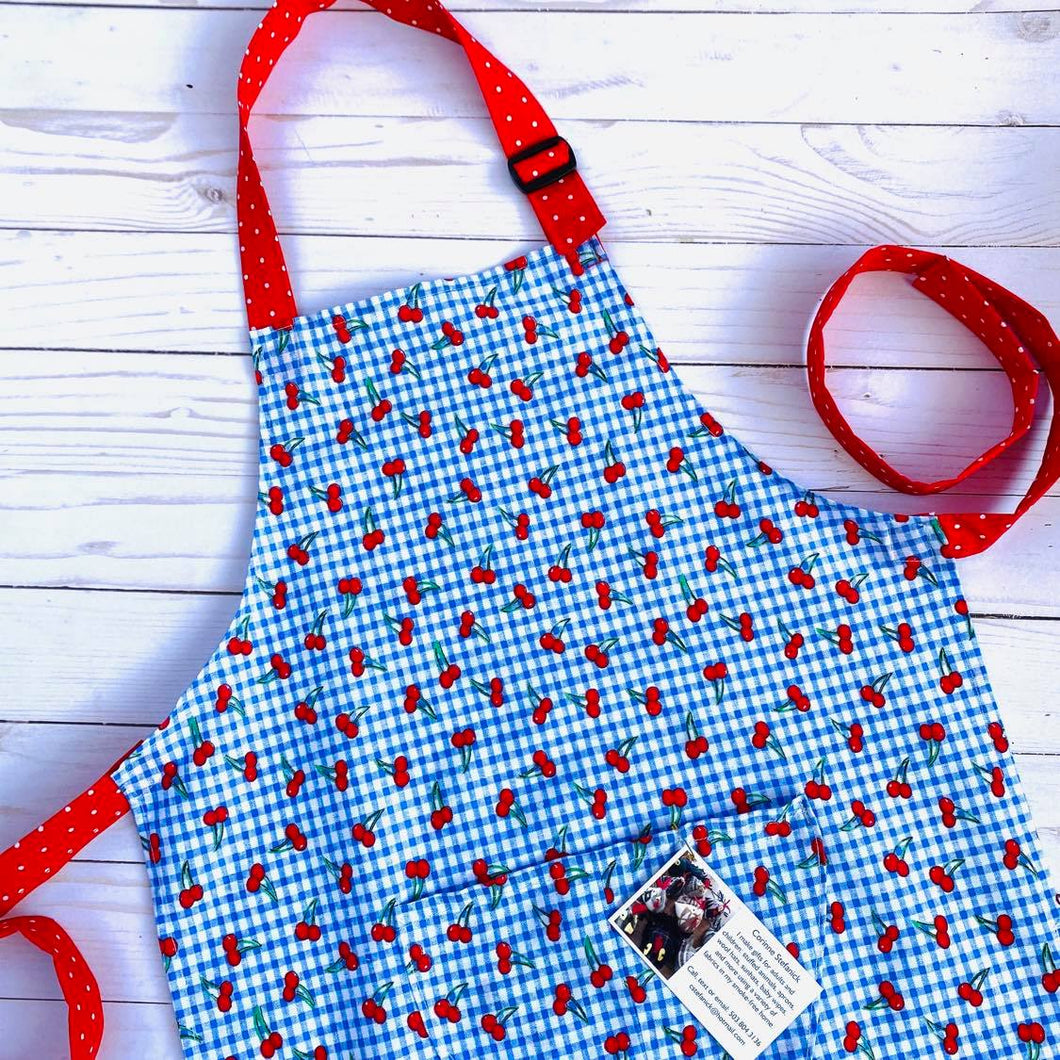 NEW Little Helper Apron by Corrine's Crafts - Cherry Print
