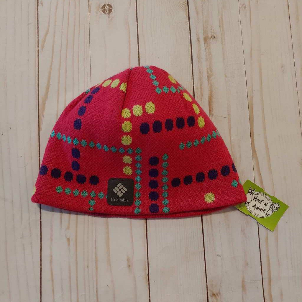 Youth L/XL: Fuchsia Mod Dot Knit Hat