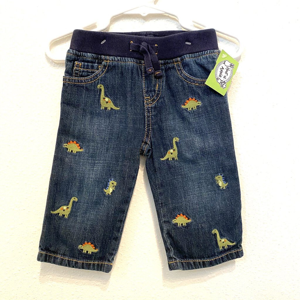 6-12M: Dino Stitch Pull-On Pants