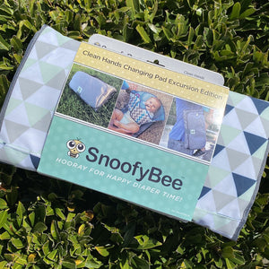 NEW SnoofyBee Excursion 3-in-1 Clean Hands Changing Pad *as seen on Shark Tank