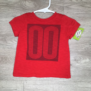 "3-6M: Red ""00"" S/S Tee"