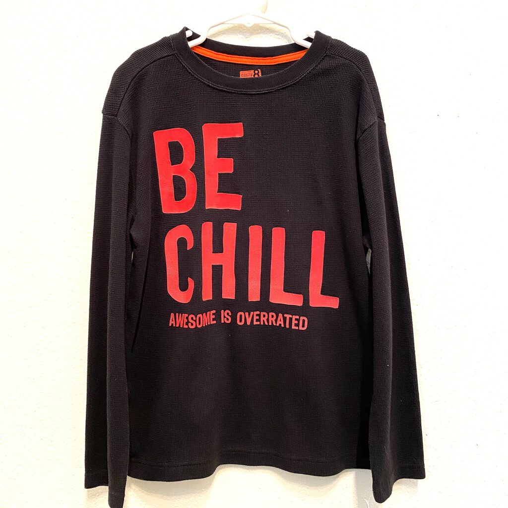 M(7-8): BE CHILL Red Letter L/S Thermal Tee