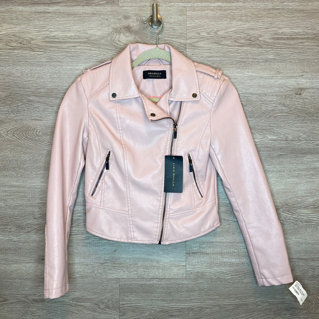 S: NEW Pink South Side Serpents Faux Leather Moto Jacket*retails $65