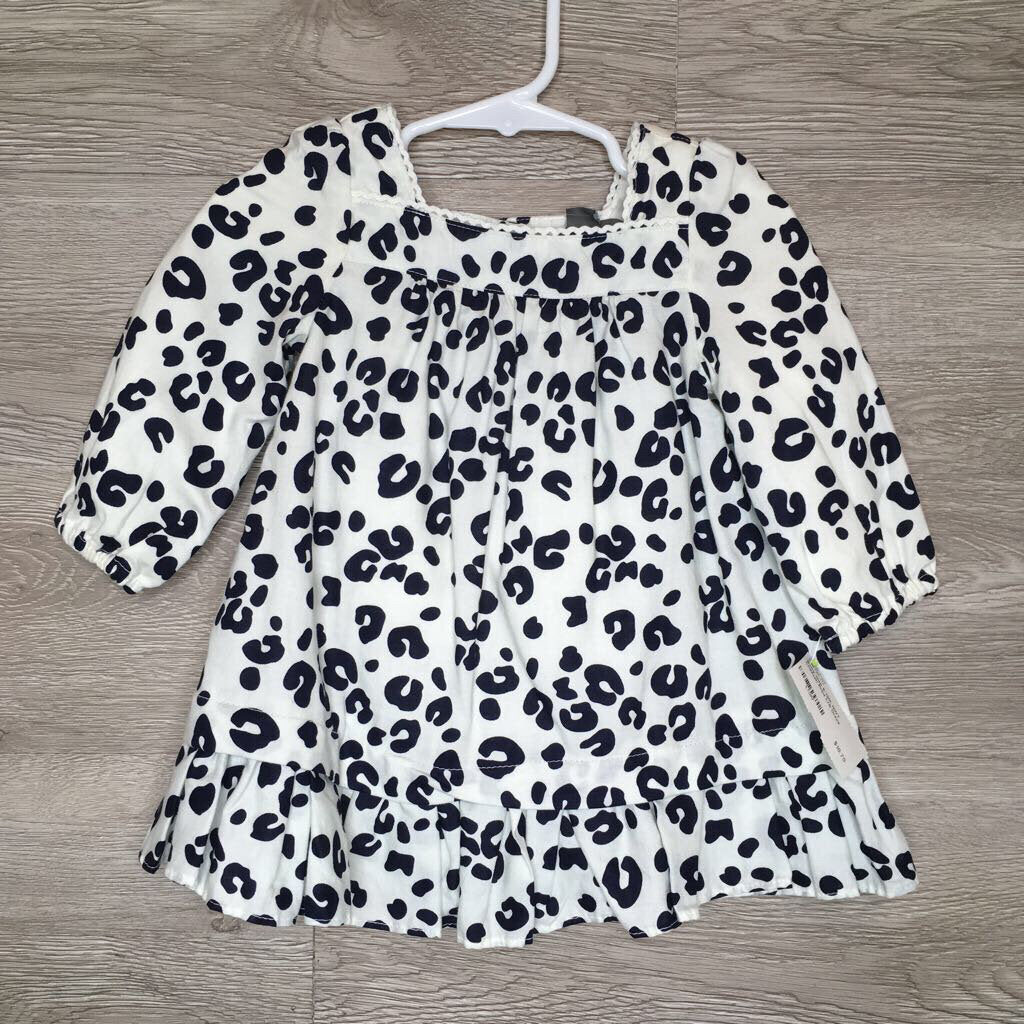 6-12M: NWT Cheetah Print L/S Dress