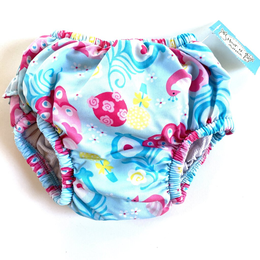 12-18M: Peacock Print Swim Diaper