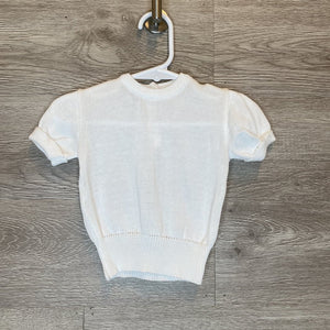 Fits Like 0-3M: White Vintage Knit Top