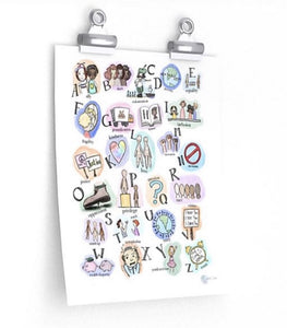 NEW A is For Ally Local Handmade Alphabet Poster