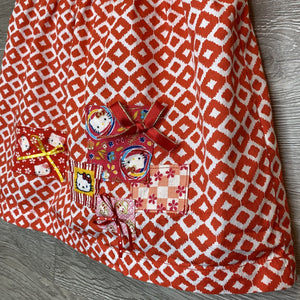 3T: Custome Hello Kitty Applique Mod Red Tank