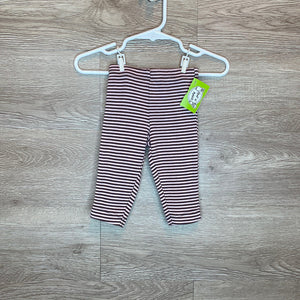 3M: Pink + Brown Striped Leggings