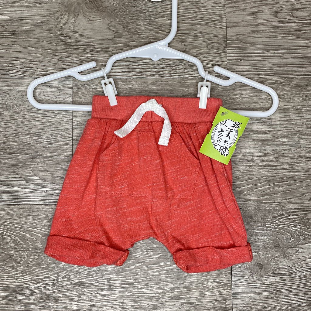 NB: Coral Heather Harem Shorts