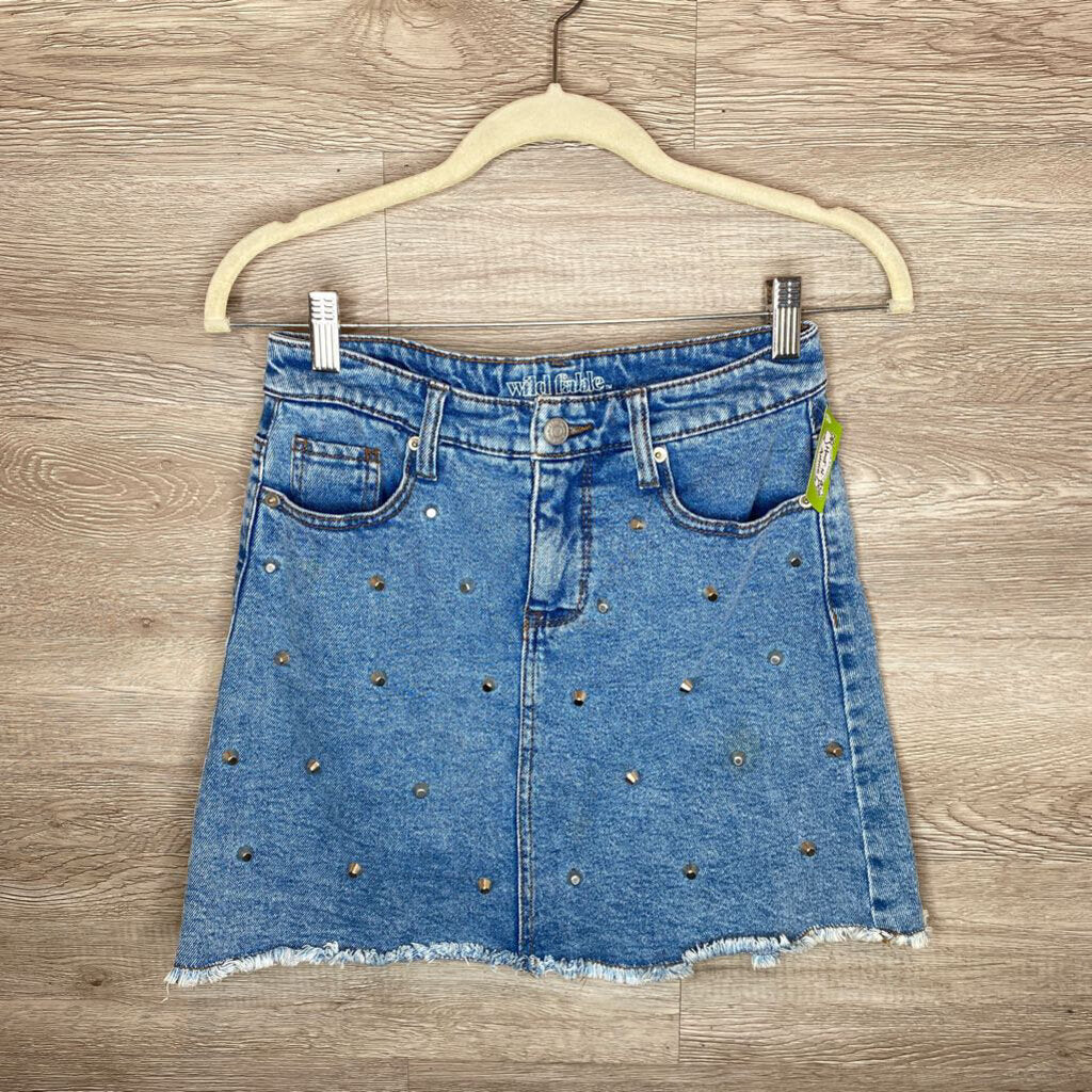 Size 4: Studded Retro Denim Skirt