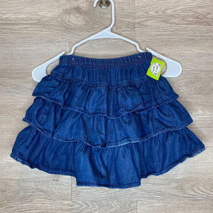 130/8: Tiered Denim Skirt w/ Shorts