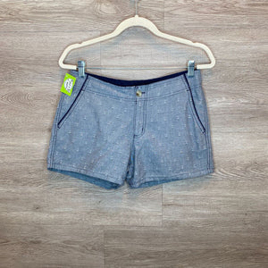 Size 8/M: Chambray Anchor Print Shorts