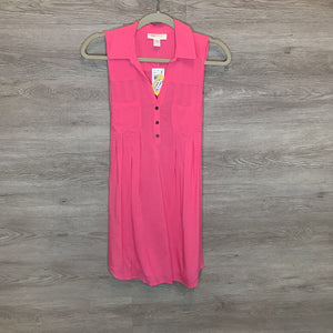 S: NWT Hot Pink Button Up Tank