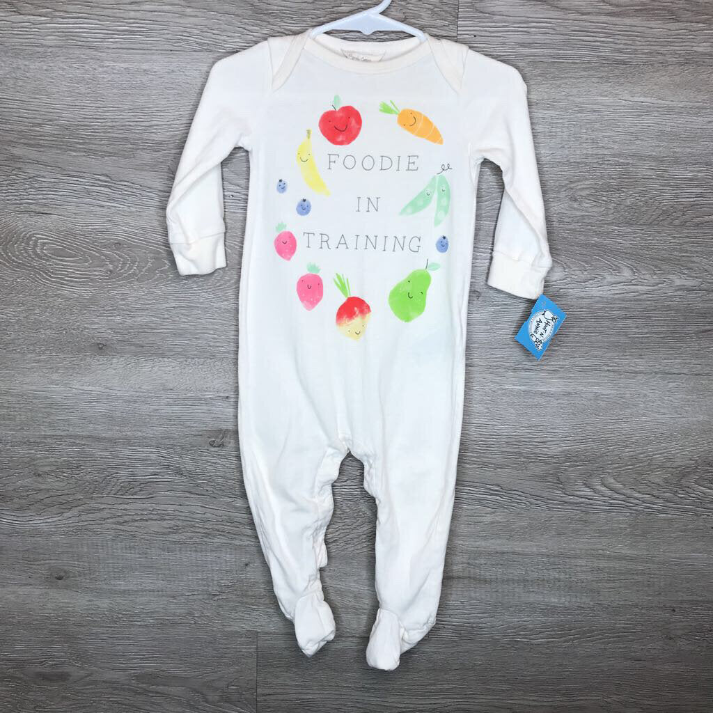 6-9M: Organic Foodie in Training L/S Romper