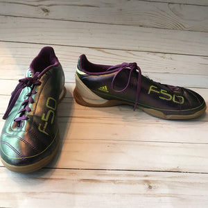 Size 6: Purple Metalic Athletic Shoes