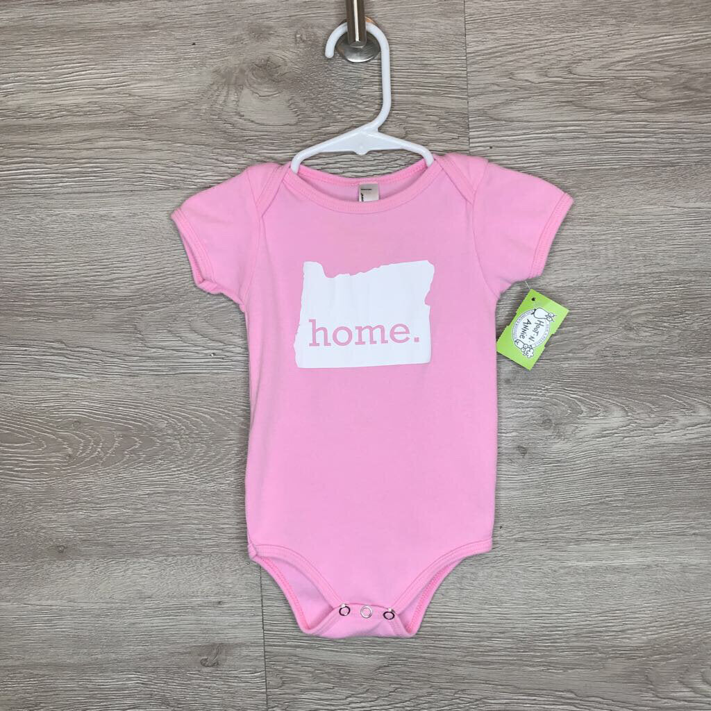 6-12M: Pink Oregon Home Onesie
